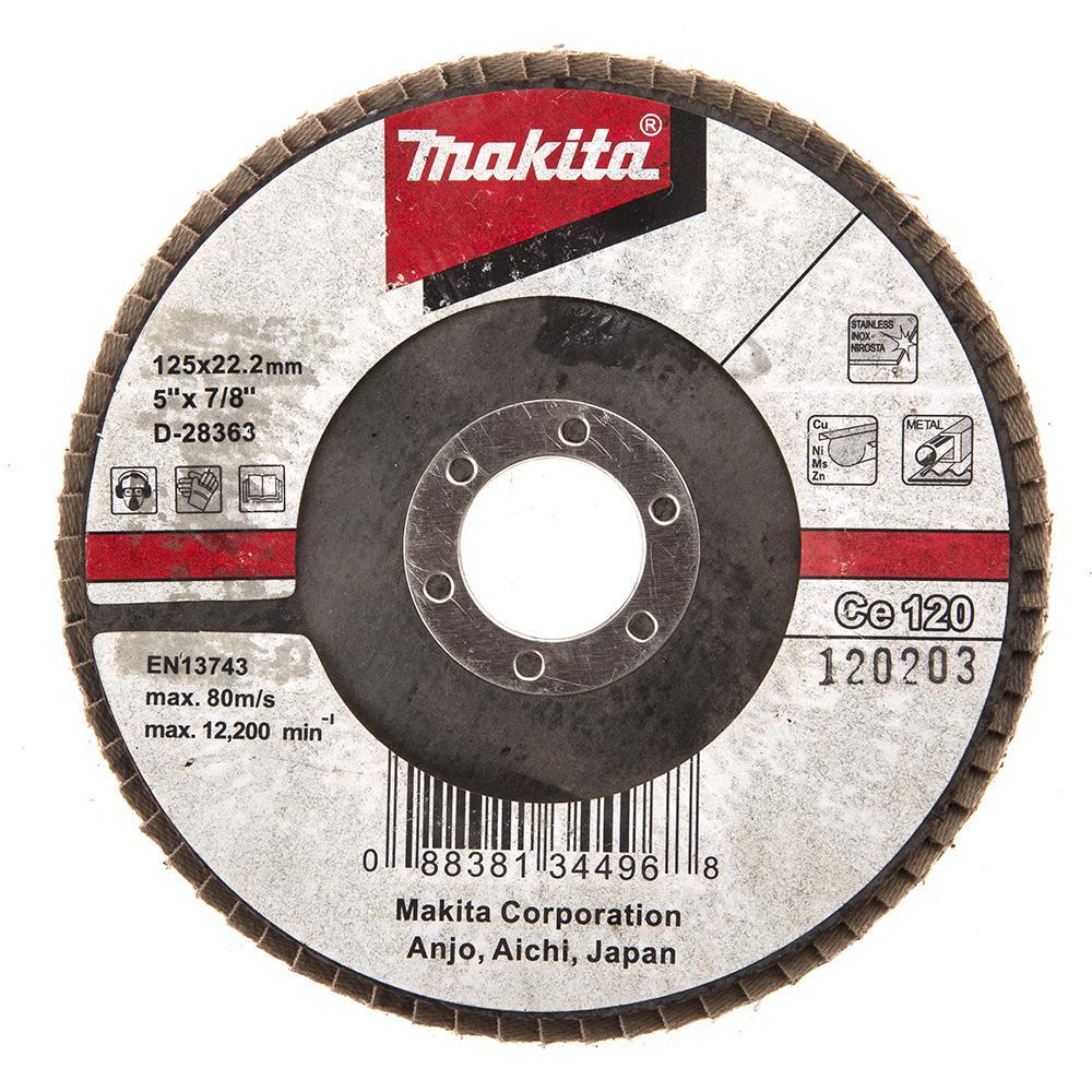 Круг Лепестковый Торцевой (КЛТ) Makita D-28363 круг лепестковый торцевой клт makita d 28117