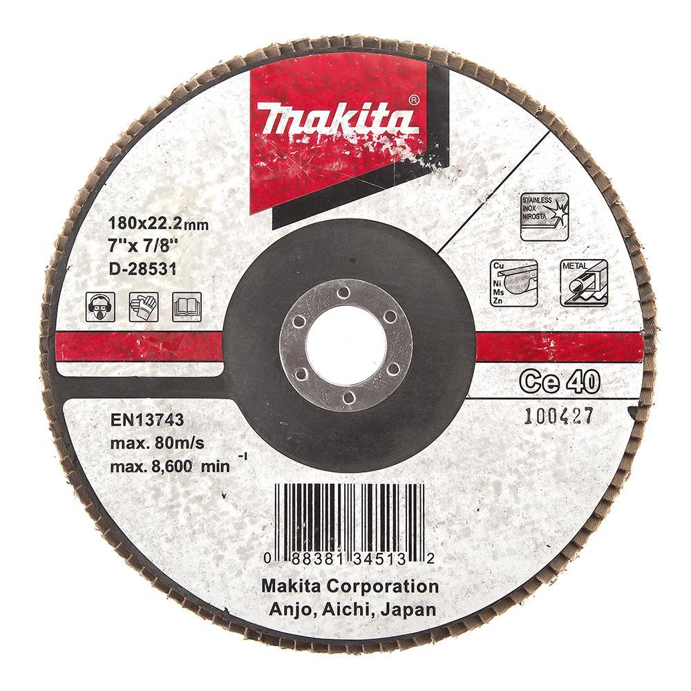 Круг Лепестковый Торцевой (КЛТ) Makita D-28531 круг лепестковый торцевой клт makita d 27078