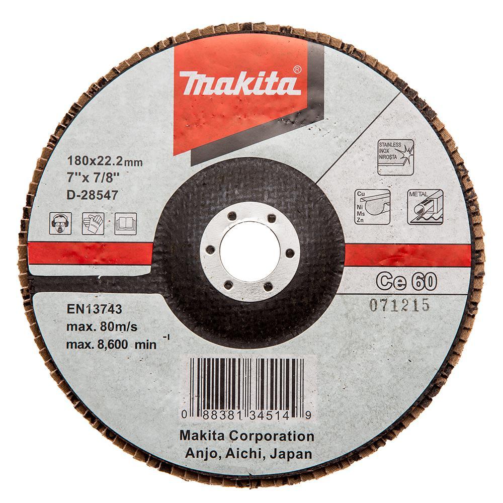 Круг Лепестковый Торцевой (КЛТ) Makita D-28547 круг лепестковый торцевой клт makita d 27707