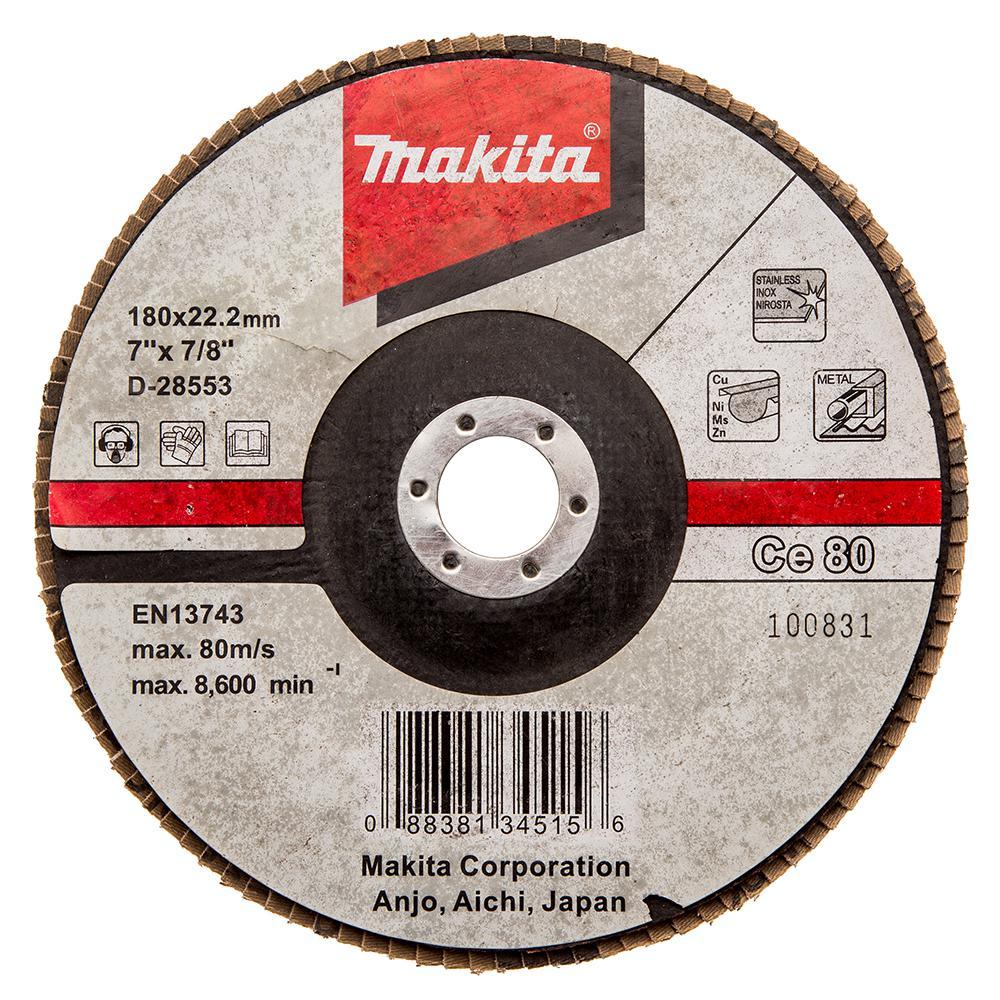 Круг Лепестковый Торцевой (КЛТ) Makita D-28553 круг лепестковый торцевой клт makita d 28117