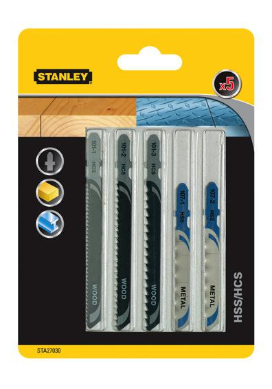 Пилки для лобзика Stanley Sta27030-xj пилки для лобзика универсальные набор 5 шт стандарт