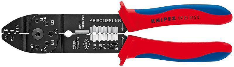 Клещи Knipex Kn-9721215b инструмент для снятия изоляции knipex kn 1250200