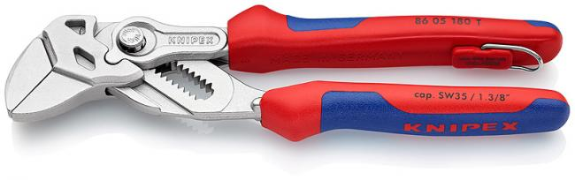 Ключ трубный переставной Knipex Kn-8605180t  knipex kn 8310015 трубный ключ 90°