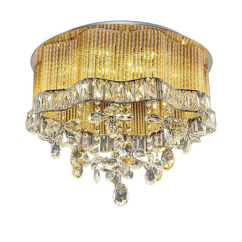 Люстра МАКСИСВЕТ Диамант 1-2603-8+8-cr y g4+led цоколь лампы led g4 10pcs lot g4 g4 lampcrystal 163