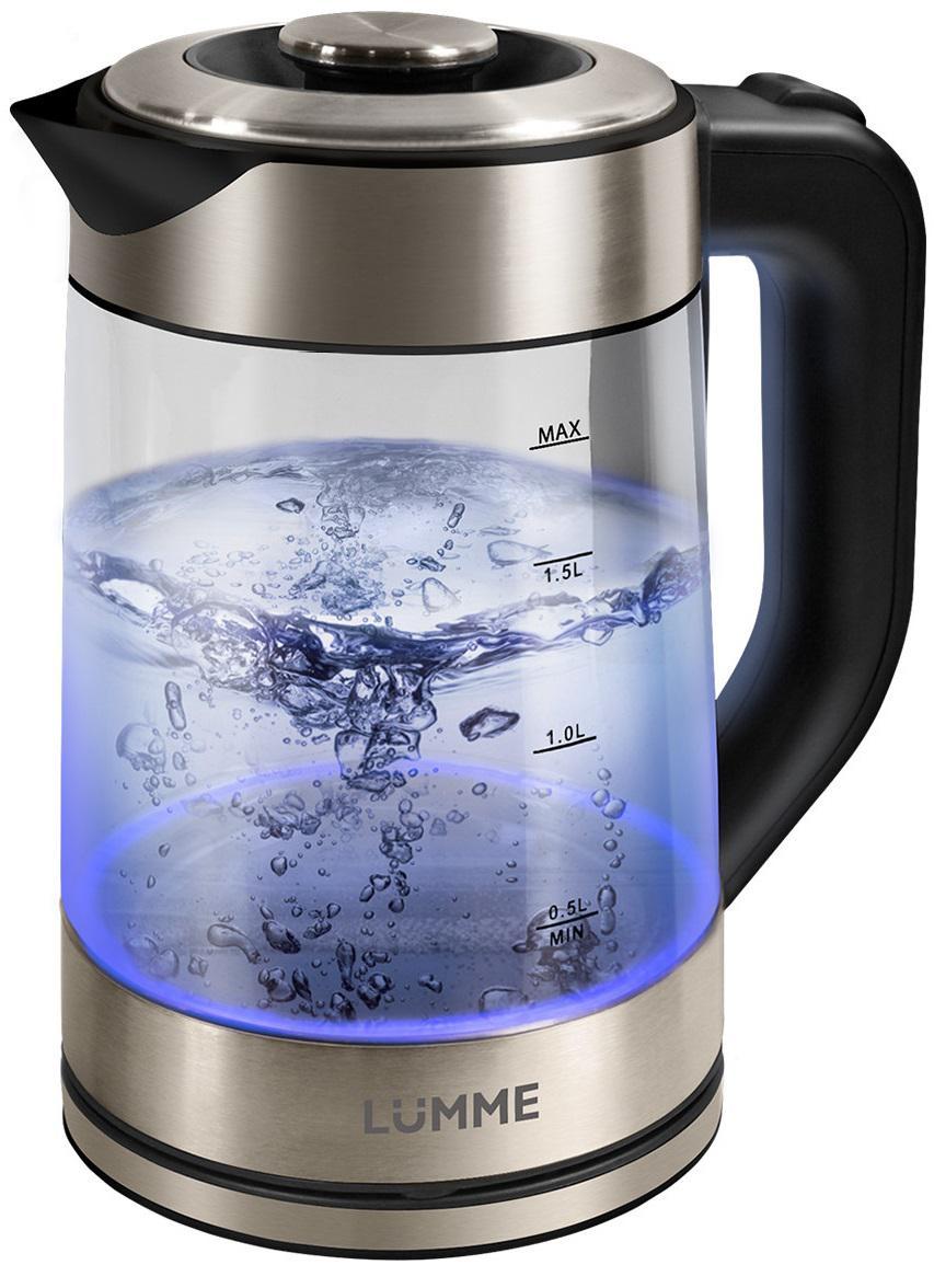 Чайник Lumme Lu-133 черный жемчуг чайник lumme lu 134 2200 вт черный жемчуг 2 л стекло