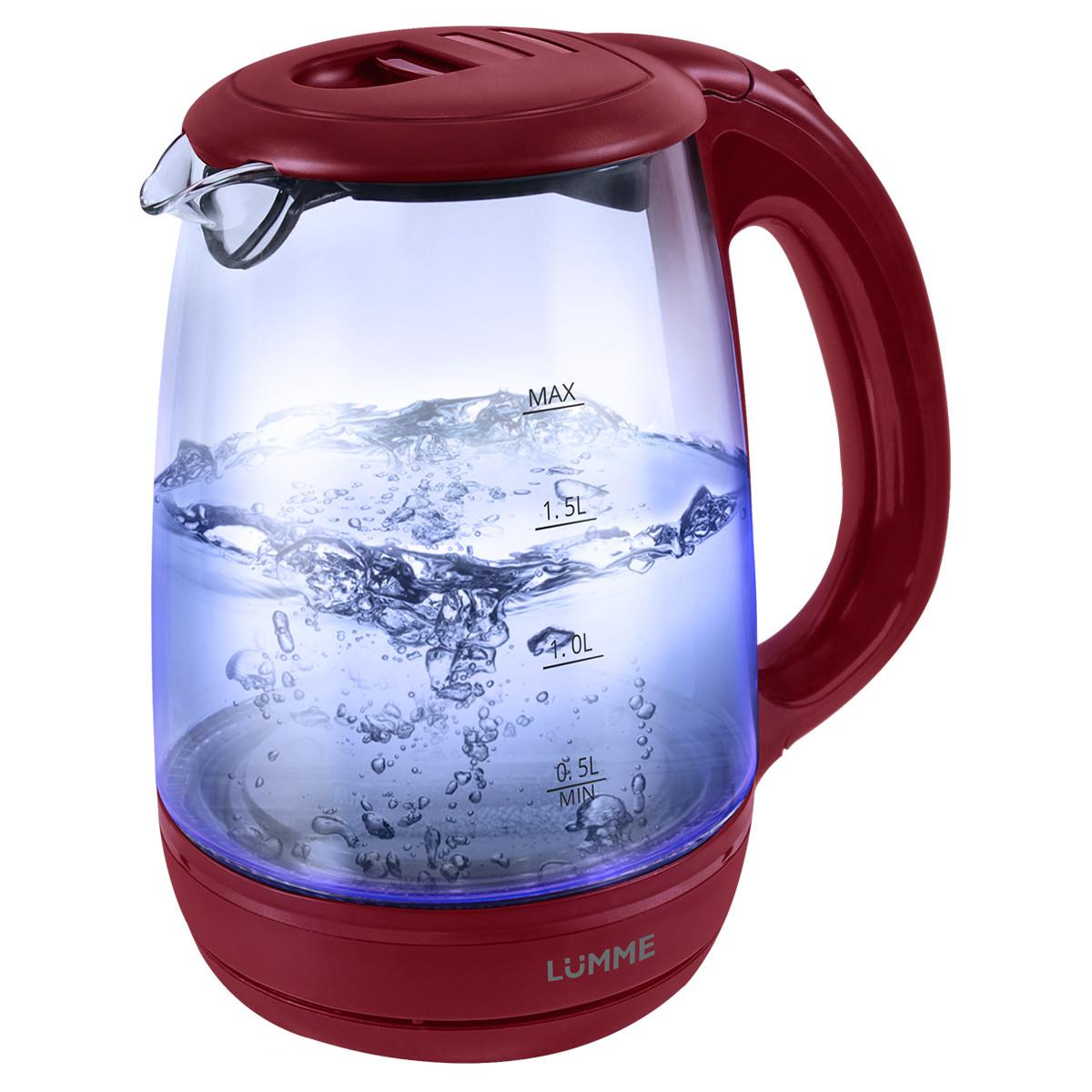 Чайник Lumme Lu-134 красный гранат чайник lumme lu 134 2200 вт черный жемчуг 2 л стекло