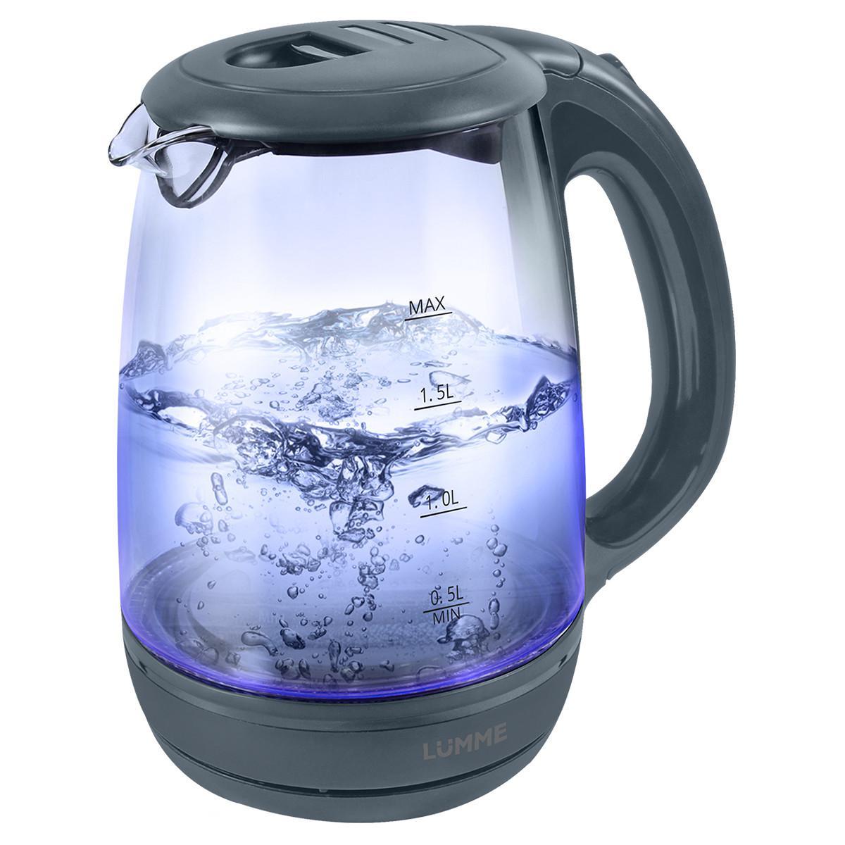 Чайник Lumme Lu-134 серый жемчуг чайник lumme lu 134 2200 вт черный жемчуг 2 л стекло