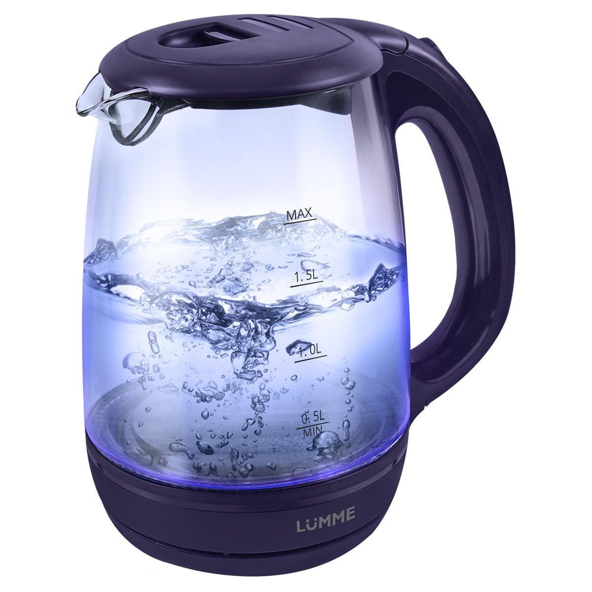 Чайник Lumme Lu-134 темный топаз чайник lumme lu 134 2200 вт черный жемчуг 2 л стекло