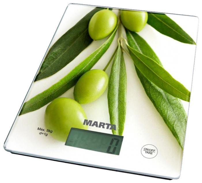 Весы кухонные Marta Mt-1634 олива
