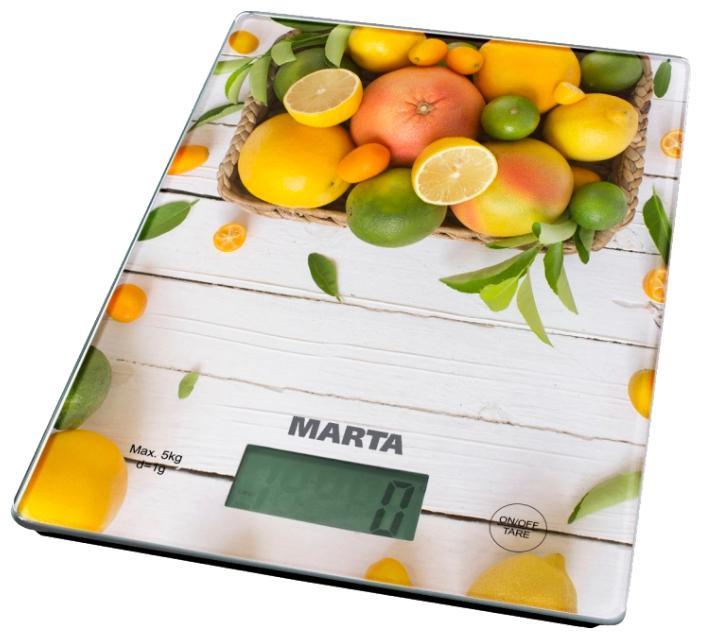 Весы кухонные Marta Mt-1634 цитрусовый микс