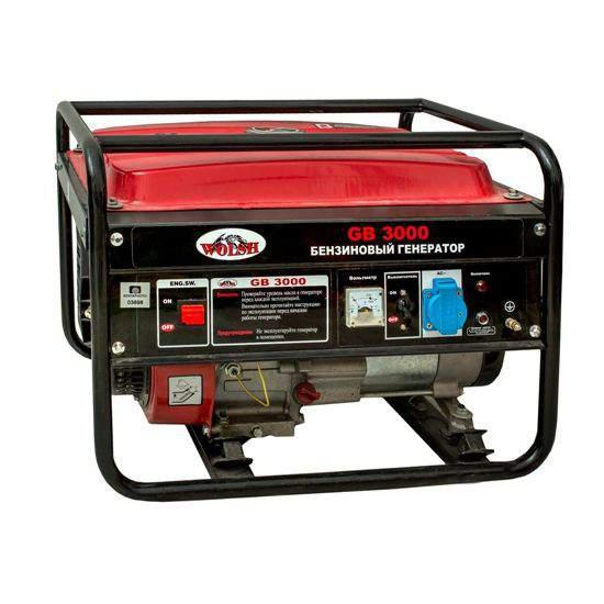 Бензиновый генератор Wolsh Gb3000 Поколение 2