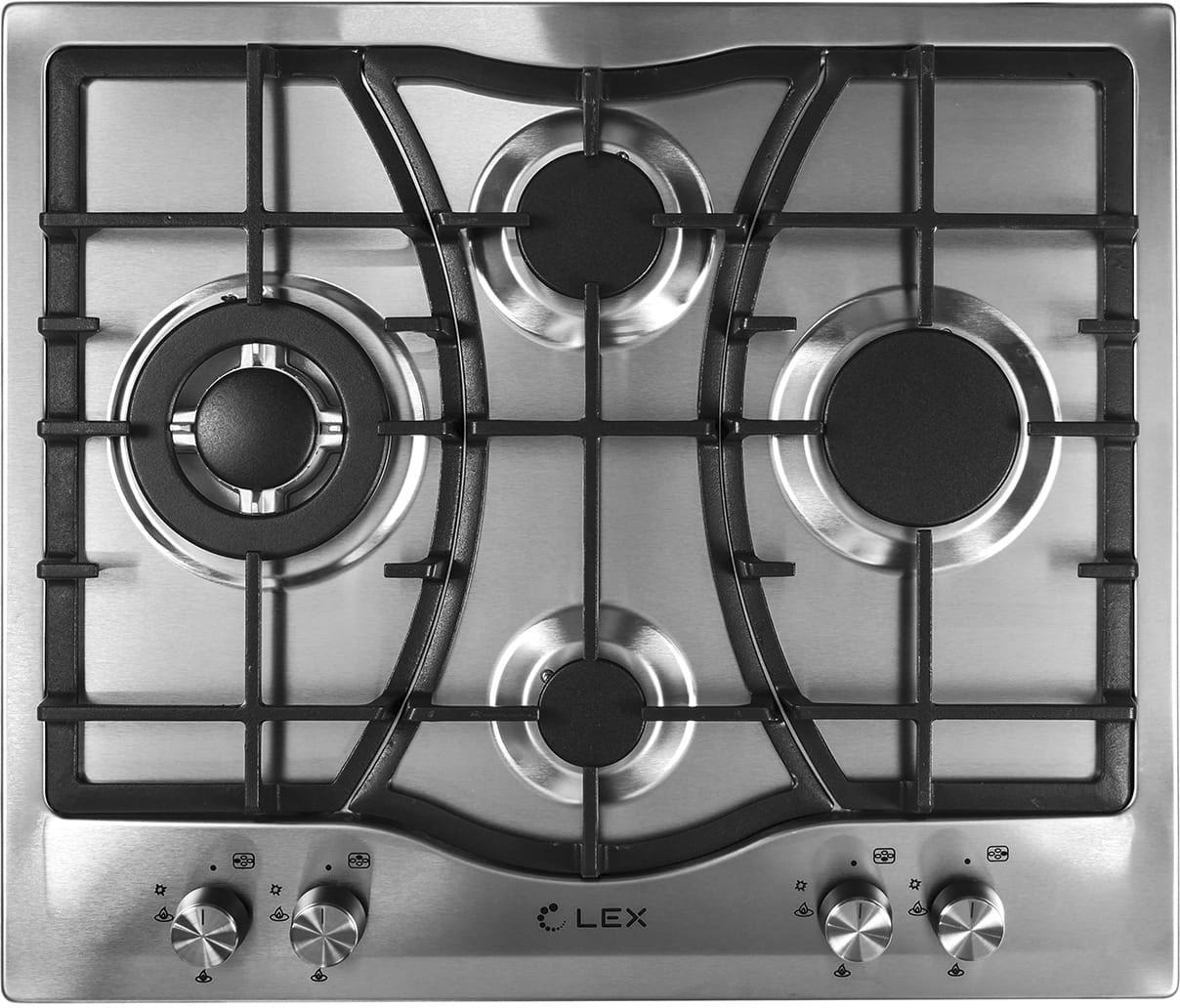 Встраиваемая газовая варочная панель Lex Gvs 643 inox