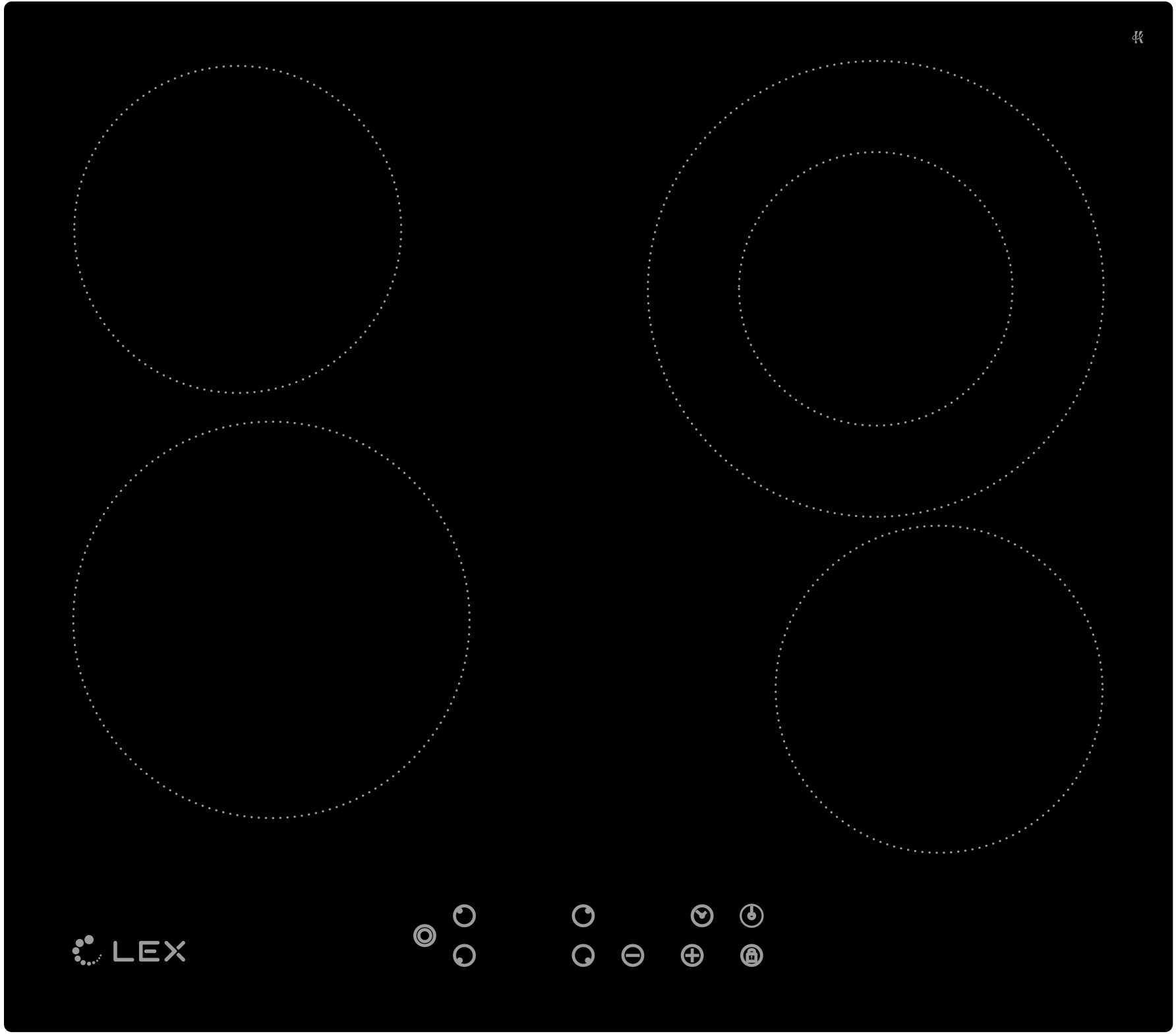 Встраиваемая варочная панель Lex Evh 641 bl электрическая варочная панель lex evh 642 bl