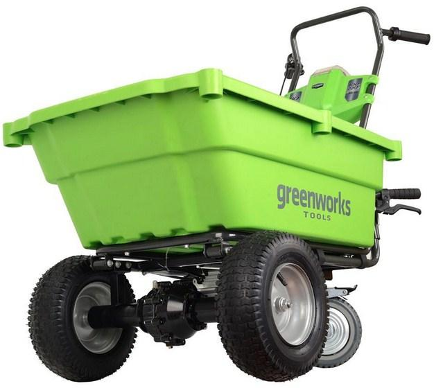 Тележка Greenworks 7400007 без акк и зу триммер greenworks gd60lt 2103207 без акк и зу