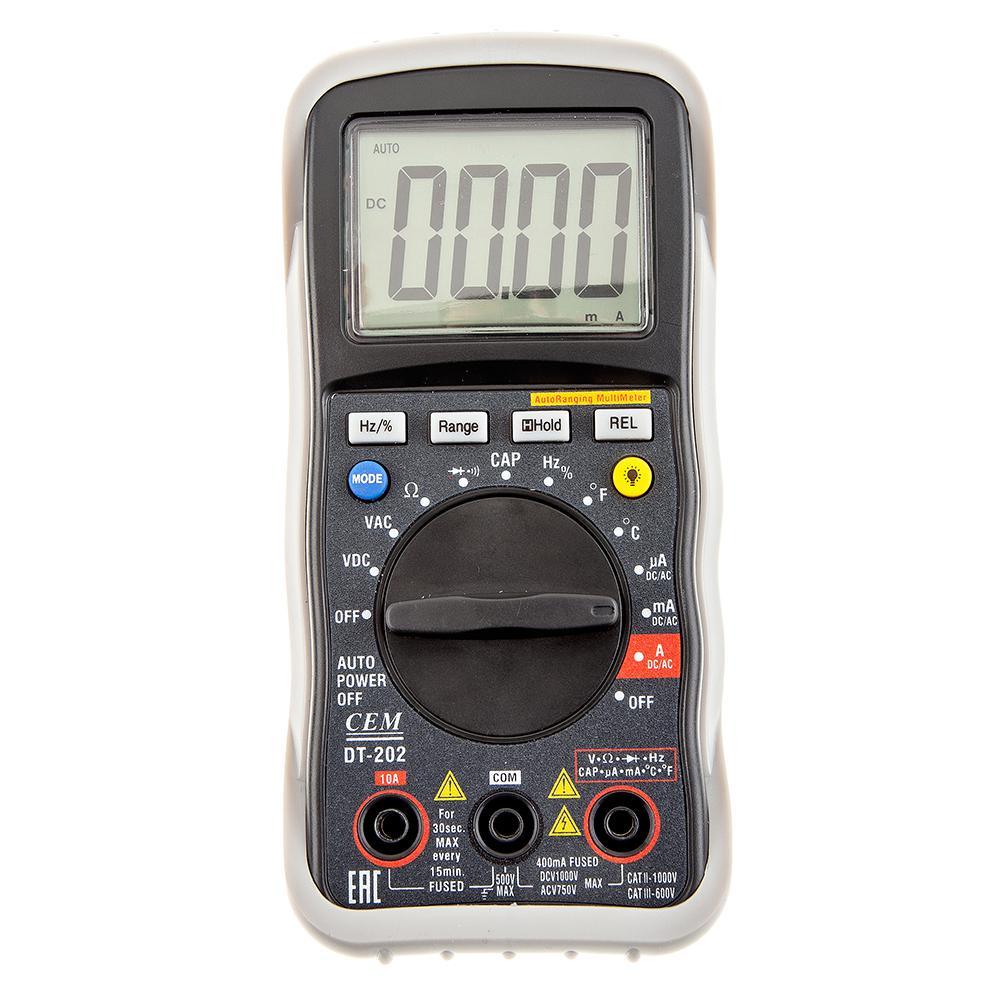 Мультиметр Cem Dt-202 мультиметр cem dt 932n цифровой true rms