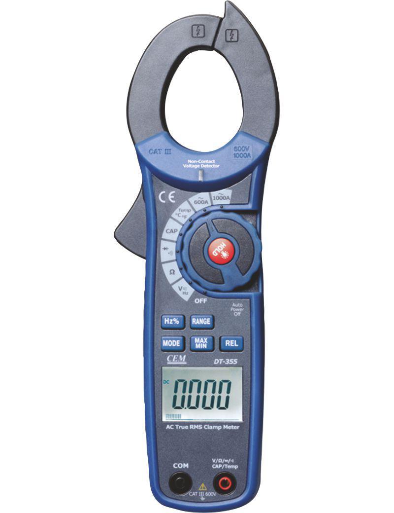 Клещи Cem Dt-355 профессиональные токовые клещи для измерения постоянного и переменного тока сем dt 3351 480410