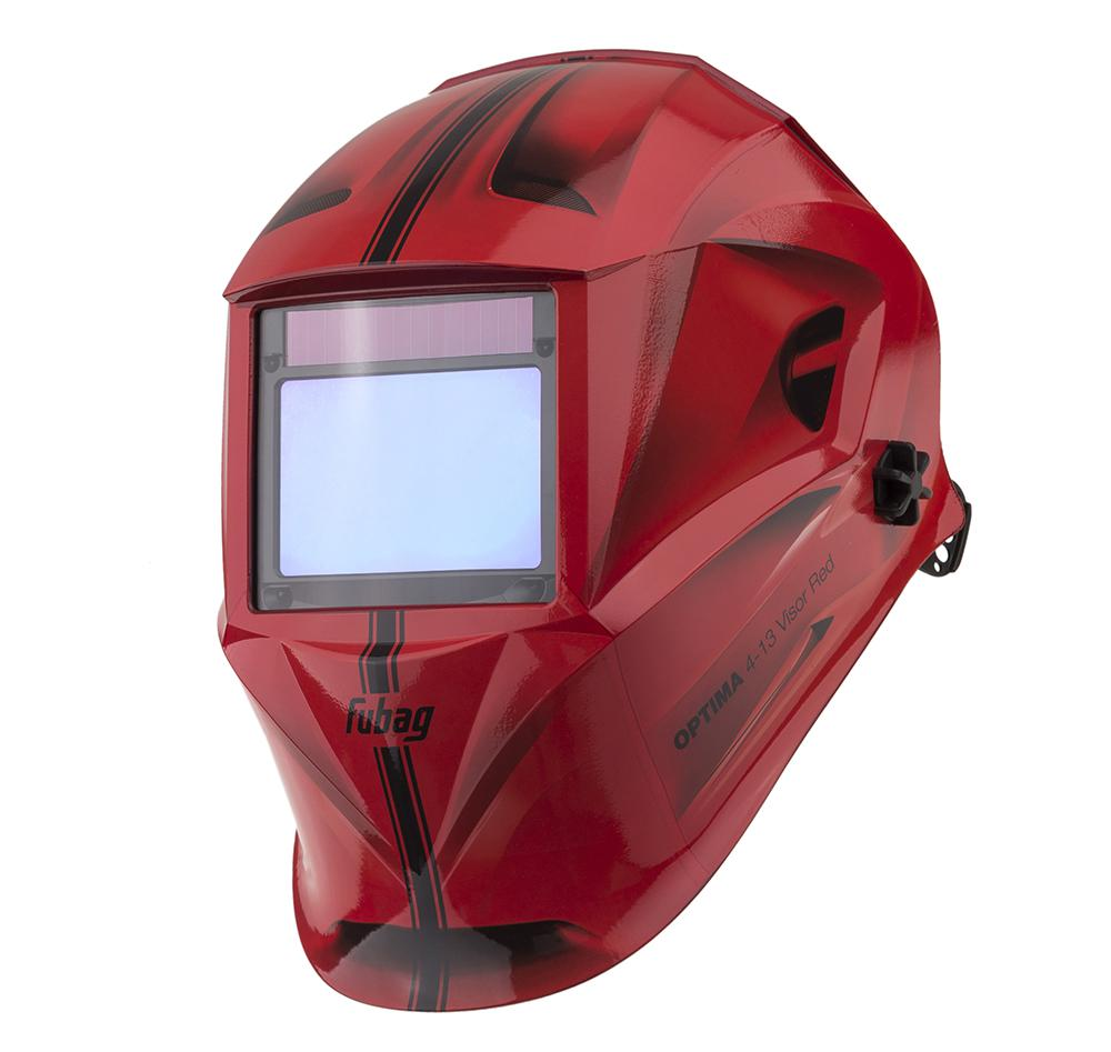 Маска Fubag Optima 4-13 visor red сварочный аппарат fubag inmig 200 plus 38093 маска сварщика fubag optima 9 13