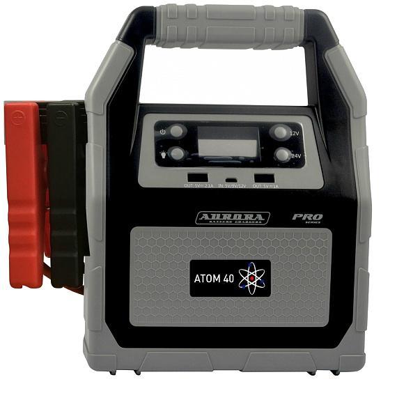 Устройство пуско-зарядное Aurora Atom 40  пусковое устройство aurora double drive 3000 turbo