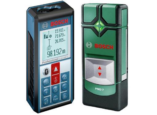 Дальномер BOSCH GLM 100 C Professional (0601072700) + Детектор PMD7