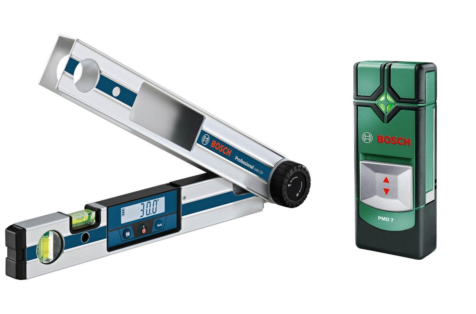 Угломер Bosch Gam 220 professional (0.601.076.500) + Детектор pmd7
