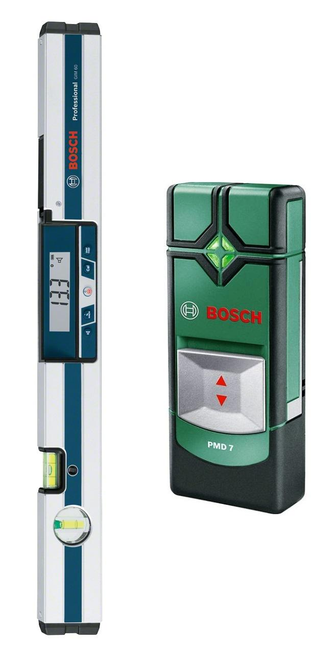 Уклономер Bosch Gim 60 (0.601.076.700) + Детектор pmd7  детектор bosch pmd 7 0603681121