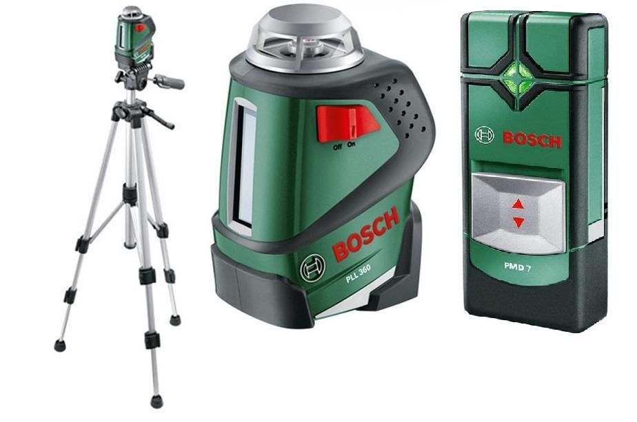 Уровень Bosch Pll 360 set + ШТАТИВ (0.603.663.001)  уровень нивелир лазерный pll 360 set – штатив 20 м bosch