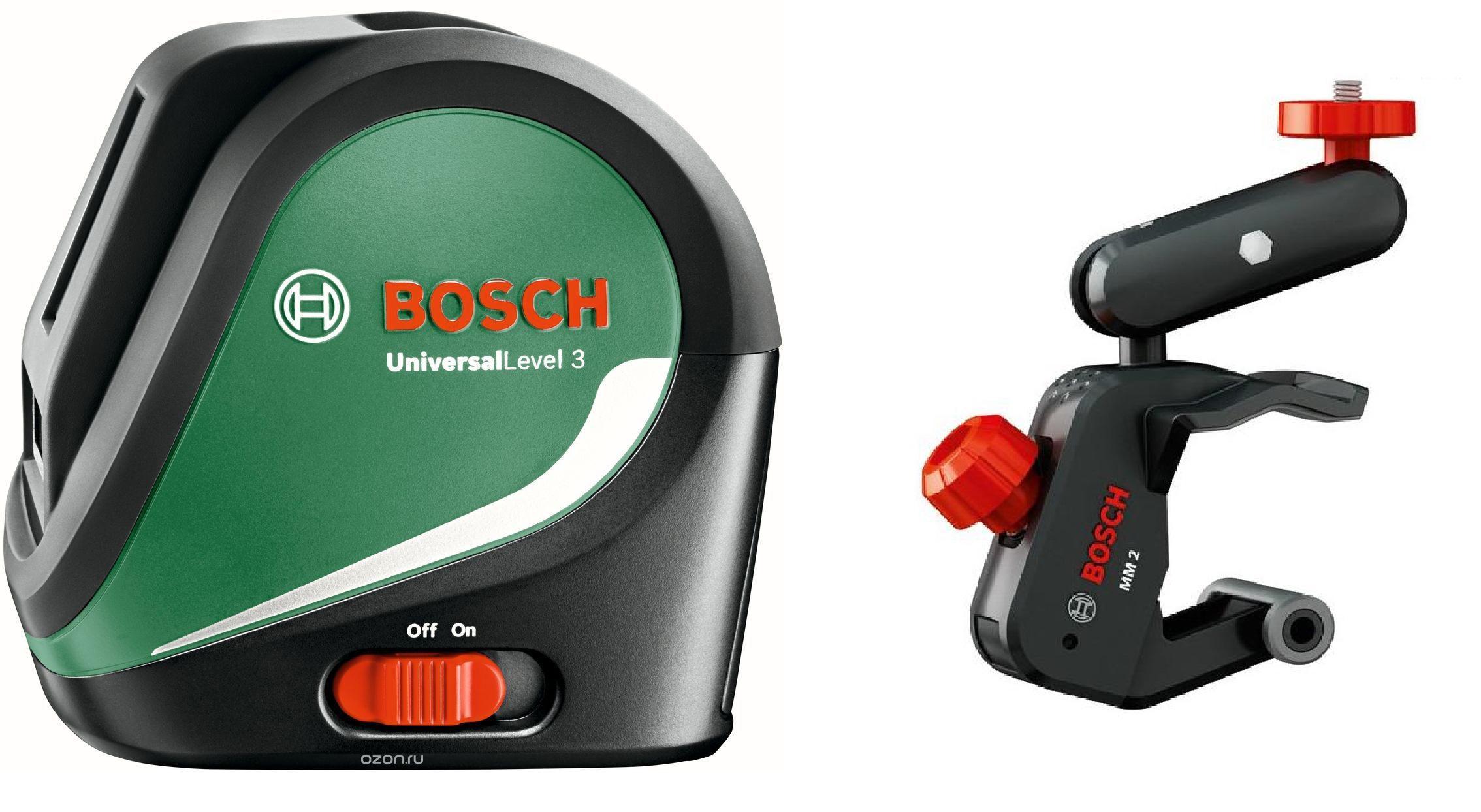 Набор Bosch Уровень universallevel 3 basic (0.603.663.900) + Держатель 0.603.692.200