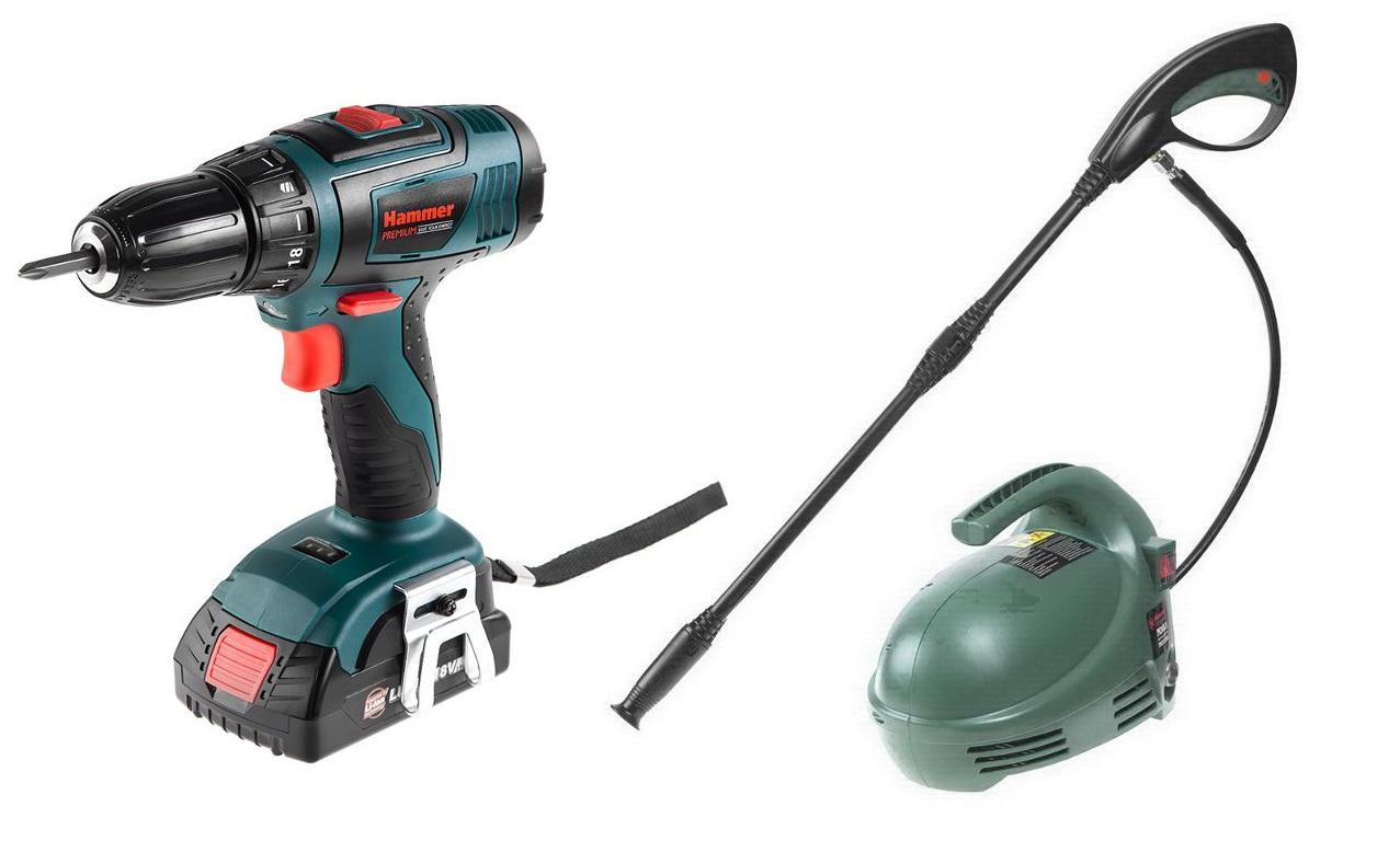 Дрель аккумуляторная Hammer Acd185li 2.0 + Подарок Мойка hammer mvd1300a аккумуляторная дрель hammer flex acd 145 li