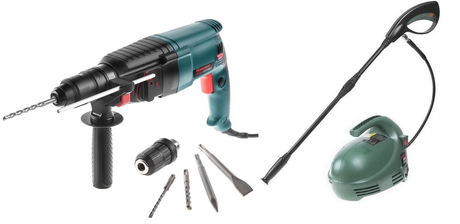 Набор Hammer Набор Перфоратор prt800ce premium + Мойка высокого давления mvd1300a hammer prt 1100 le premium