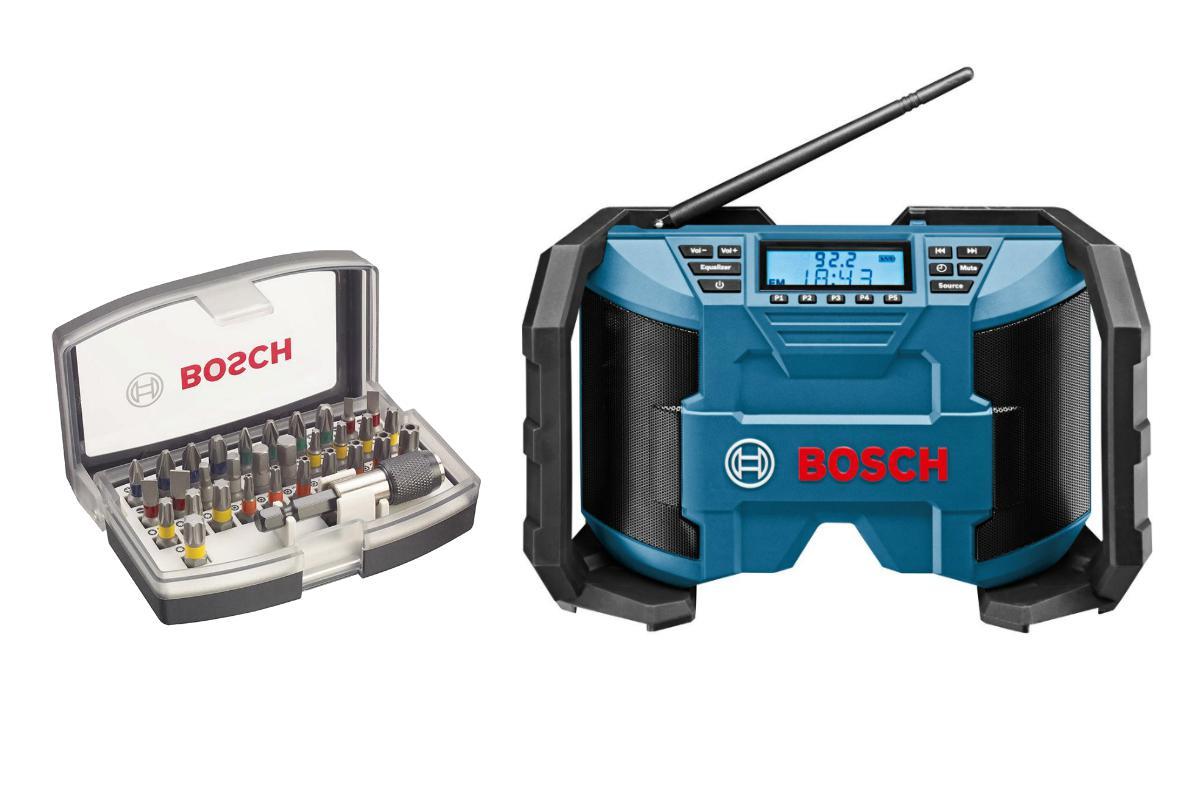 Набор Bosch Радио gml 10.8 v-li (0.601.429.200),Набор бит 2.607.017.319