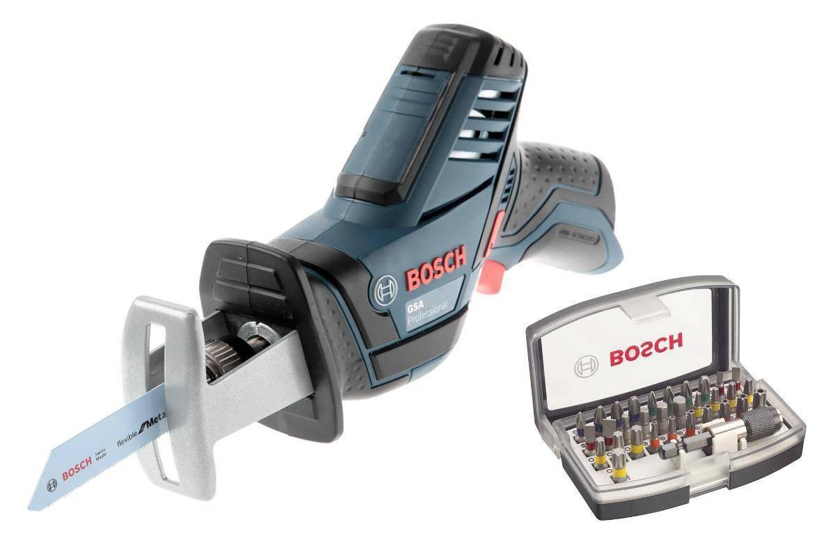Набор Bosch Ножовка gsa 10,8 v-li БЕЗ АКК. (0.601.64l.902),Набор бит 2.607.017.319 набор bosch ножовка gsa 18v 32 0 601 6a8 102 адаптер gaa 18v 24