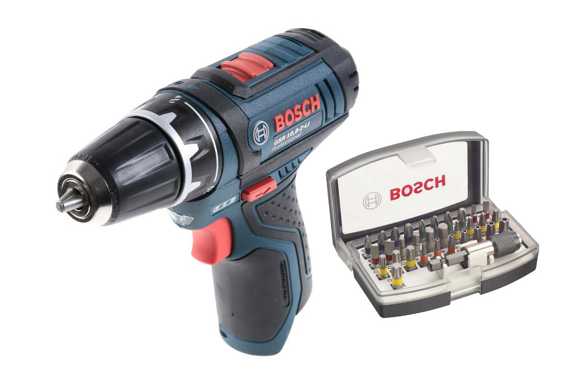 Набор Bosch Дрель аккумуляторная gsr 12v-15 БЕЗ АКК. (0.601.868.101),Набор бит 2.607.017.319 for bosch gsr 12v gli 12v ahs gsb gsr psr 12 12ve battery 1 5ah ni cd bat043 bat045 bat046 bat049 bat120 bat139 26073 35555