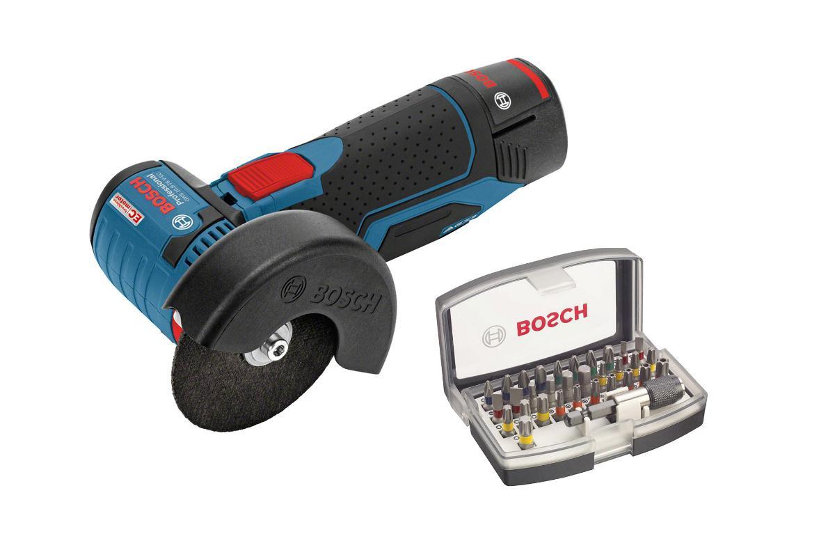 Набор Bosch УШМ (болгарка) gws 10.8-76 v-ec (0.601.9f2.002),Набор бит 2.607.017.319 болгарка bosch gws 10 8 76 v ec 0 601 9f2 002