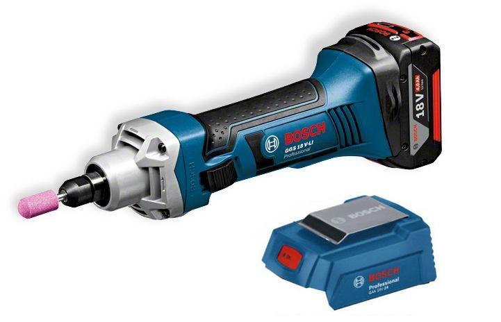 Набор Bosch Машинка шлифовальная прямая ggs 18 v-li l-boxx (0.601.9b5.303),Адаптер gaa 18v-24 набор bosch ножовка gsa 18v 32 0 601 6a8 102 адаптер gaa 18v 24