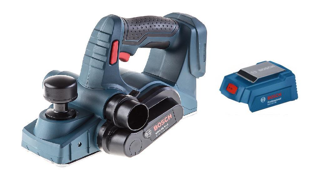 Набор Bosch Рубанок gho 18 v-li (0.601.5a0.300),Адаптер gaa 18v-24 набор bosch ножовка gsa 18v 32 0 601 6a8 102 адаптер gaa 18v 24