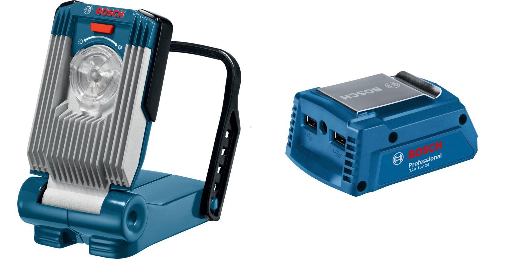 Набор Bosch Фонарь gli variled (0.601.443.400),Адаптер gaa 18v-24 набор bosch перфоратор gbh 18 v ec 0 611 904 00b адаптер gaa 18v 24