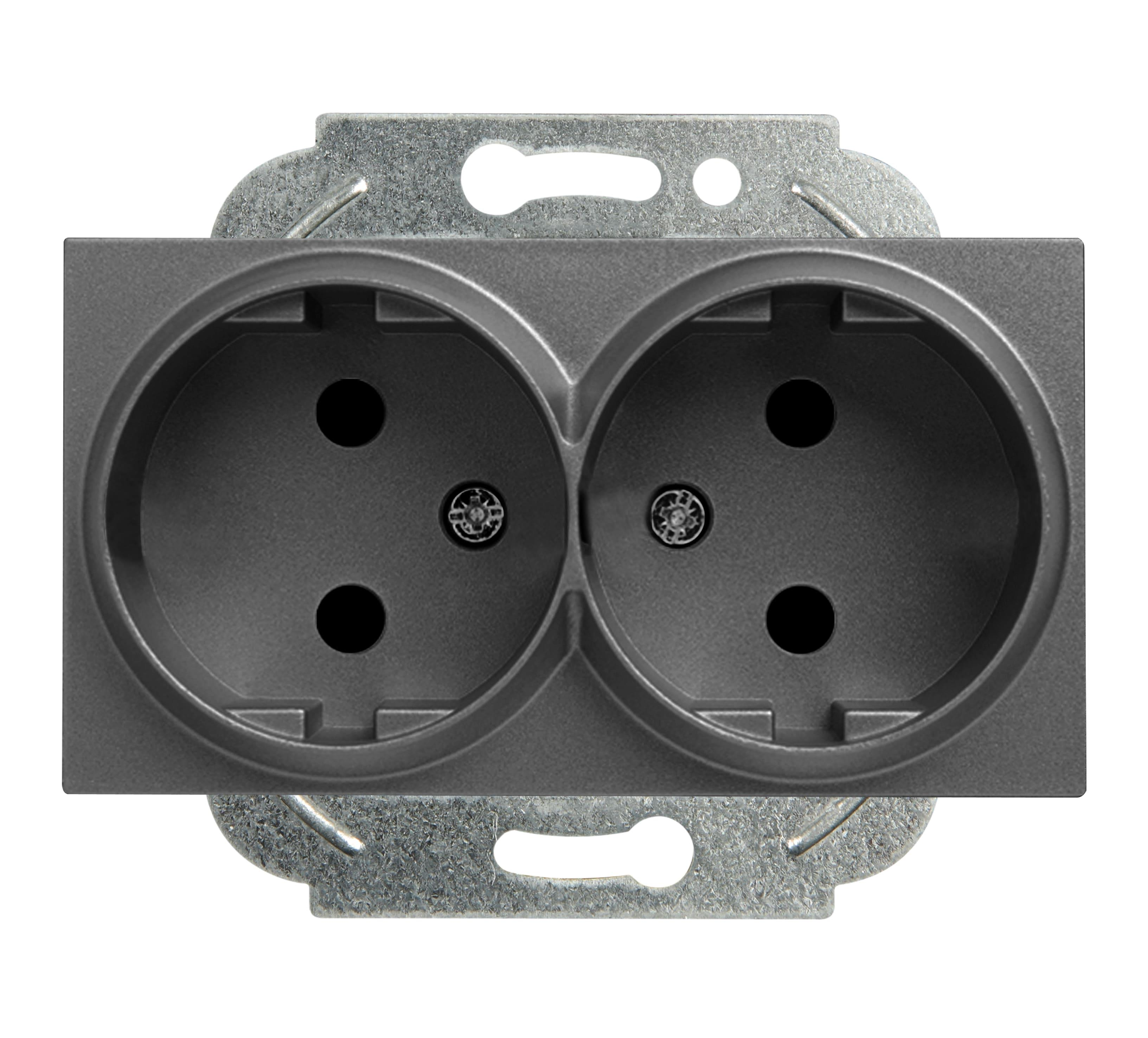 Механизм розетки Panasonic Wktt0204-2dg-res karre plus