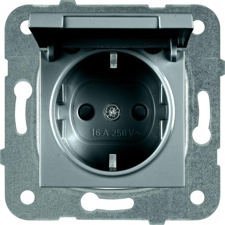 Купить Механизм розетки Panasonic Wktt0210-2dg-res karre plus