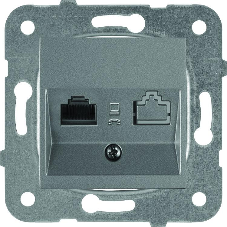 Механизм розетки Panasonic Wktt0404-2dg-res karre plus