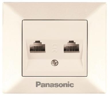 Розетка Panasonic Wktf0809-2wh-res arkedia