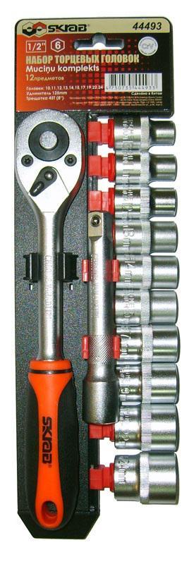 Набор головок Skrab 44493 набор торцевых головок jonnesway 3 8dr 6 22 мм и комбинированных ключей 7 17 мм 36 предметов