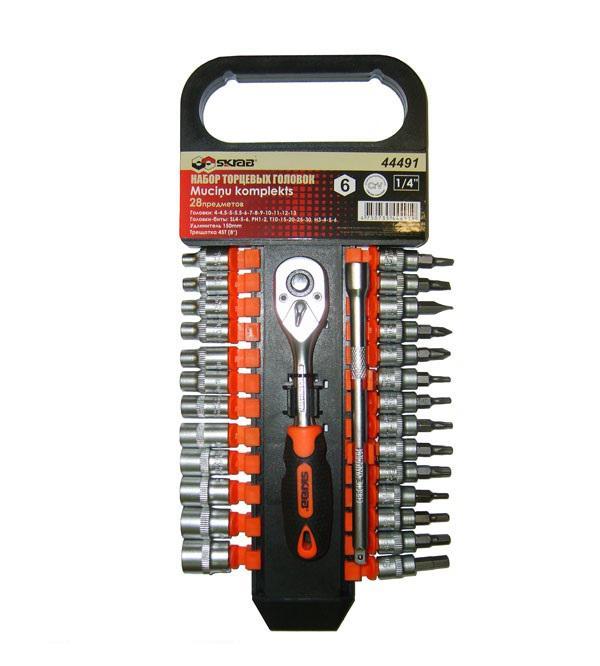 Набор головок Skrab 44491 набор торцевых головок jonnesway 3 8dr 6 22 мм и комбинированных ключей 7 17 мм 36 предметов