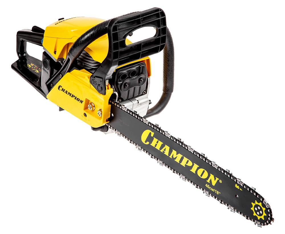 Бензопила Champion 256-18 сумка для инструмента champion c1371 c215 для шины 18