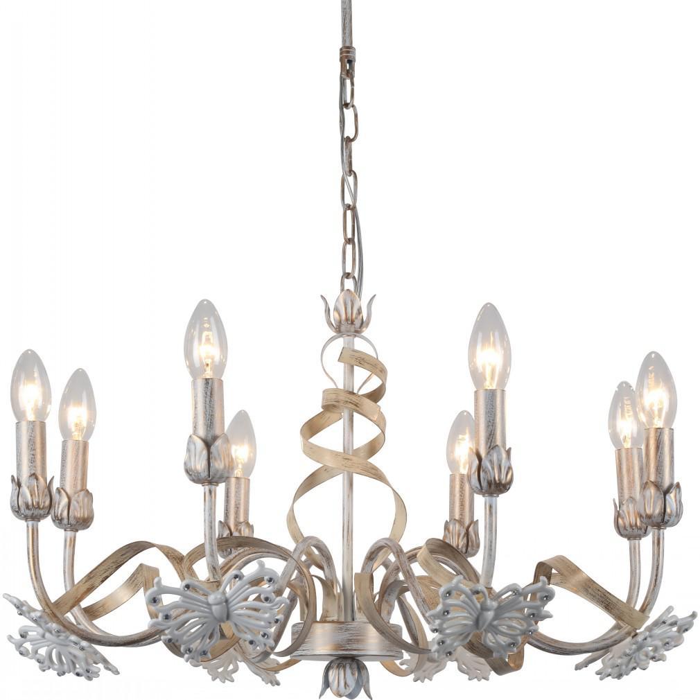 Светильник подвесной Arte lamp A8626lm-8wg подвесная люстра arte lamp libellula a8626lm 8wg
