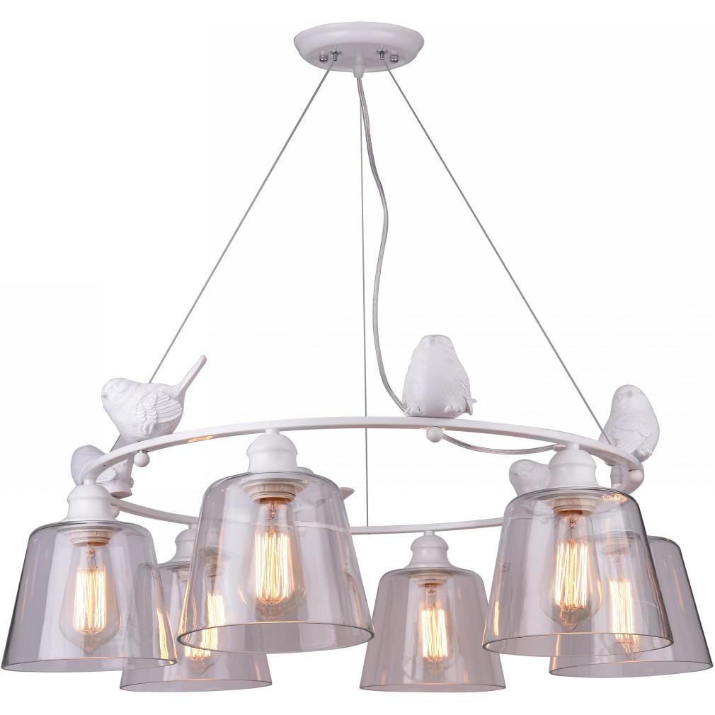 Светильник подвесной Arte lamp A4289lm-6wh светильник подвесной arte lamp passero 6 х e27 40 w a4289lm 6wh