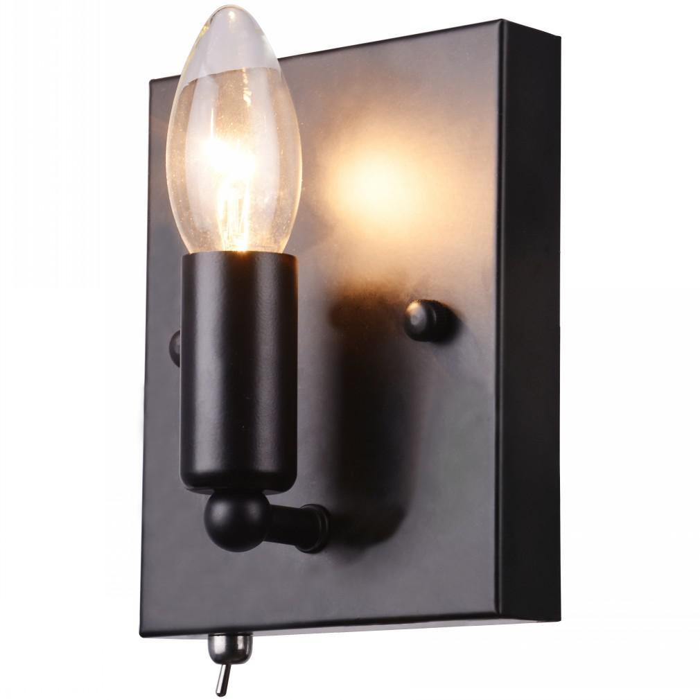 Светильник настенный Arte lamp A8811ap-1bk бра arte lamp bastiglia a8811ap 1bk