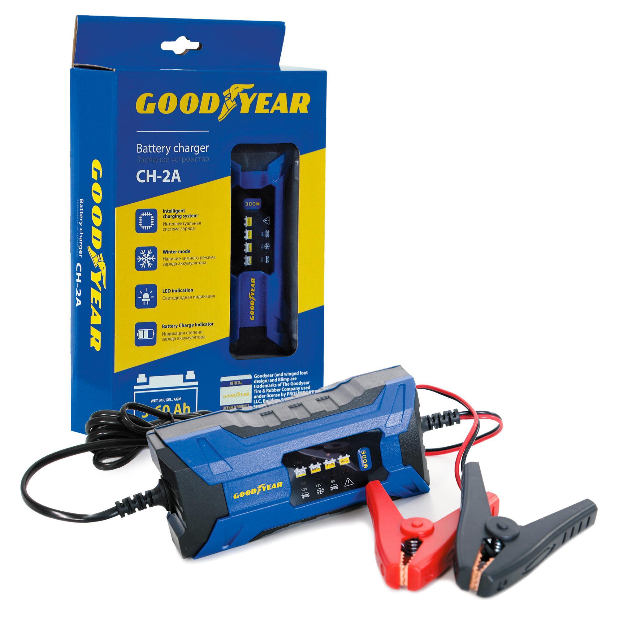 Зарядное устройство Goodyear Gy003000 зарядное устройство 6 вольт для аккумулятора в томске