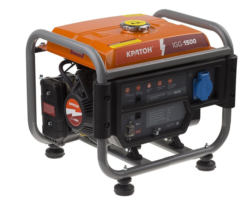 Бензиновый генератор КРАТОН Igg-1500 генератор бензиновый patriot srge 3500