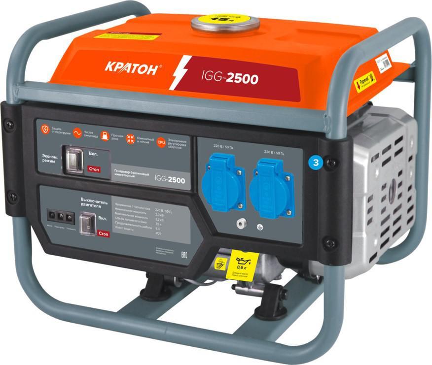 Бензиновый генератор КРАТОН Igg - 2500 бензиновый генератор кратон gg 5500m