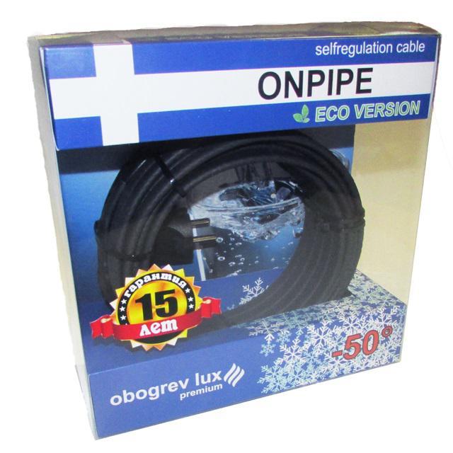 Греющий кабель Onpipe Ol premium 9м кабель 9м для каркам квадро окта